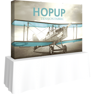 Hopup 7.5ft Straight Tabletop Tension Fabric Display