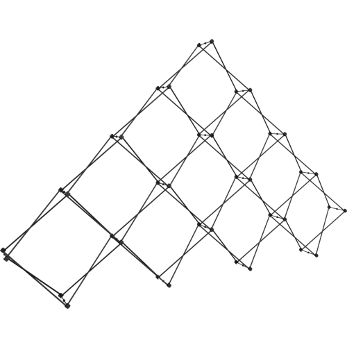 Xclaim 14ft 10 Quad Pyramid Fabric Popup Display Frame